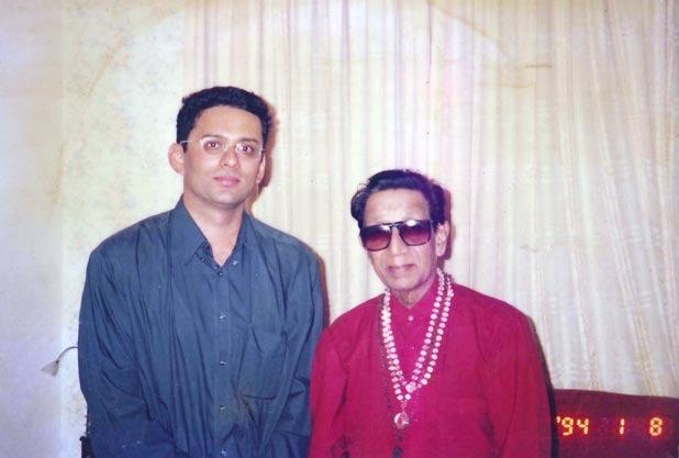 Dr. Meenesh Juvekar with Bala sahab thakare